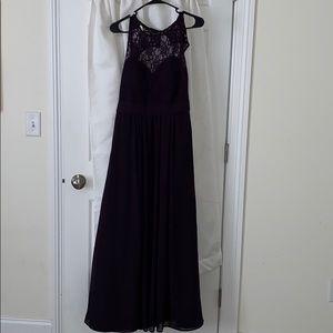 Purple lace bridesmaid/prom dress